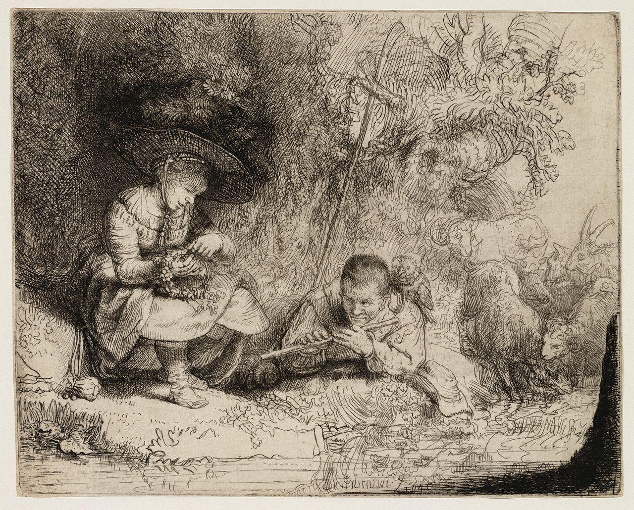 De fluitspeler (l'Espiègle) ( B 188 ) — Rembrandt