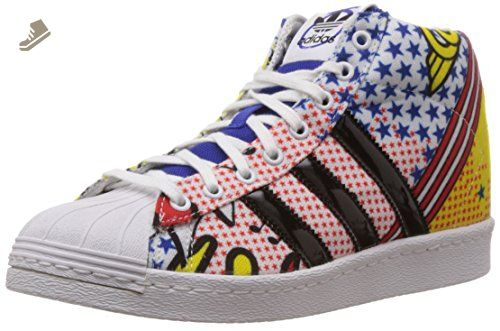 separation shoes a5db6 37ce4 Adidas Women s Superstar Up W, WHITE RED BLACK BLUE, 6.5 US