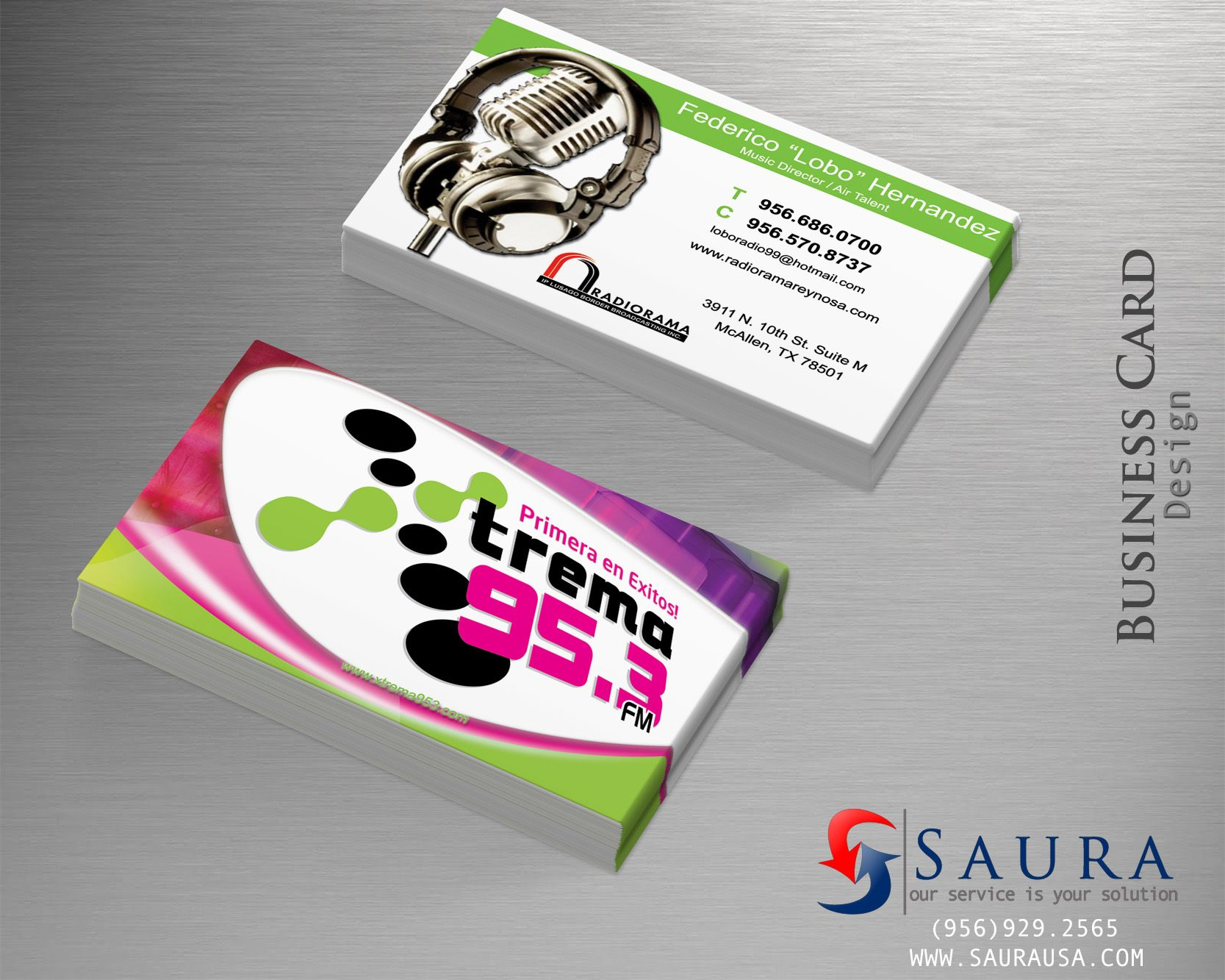 Business Card Design For Radio Station Business Card Design Card Design Cards