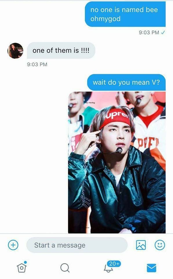 2/2 : HAHAHH I guess Taehyung is called Bee now! // Credits to: @btssilks