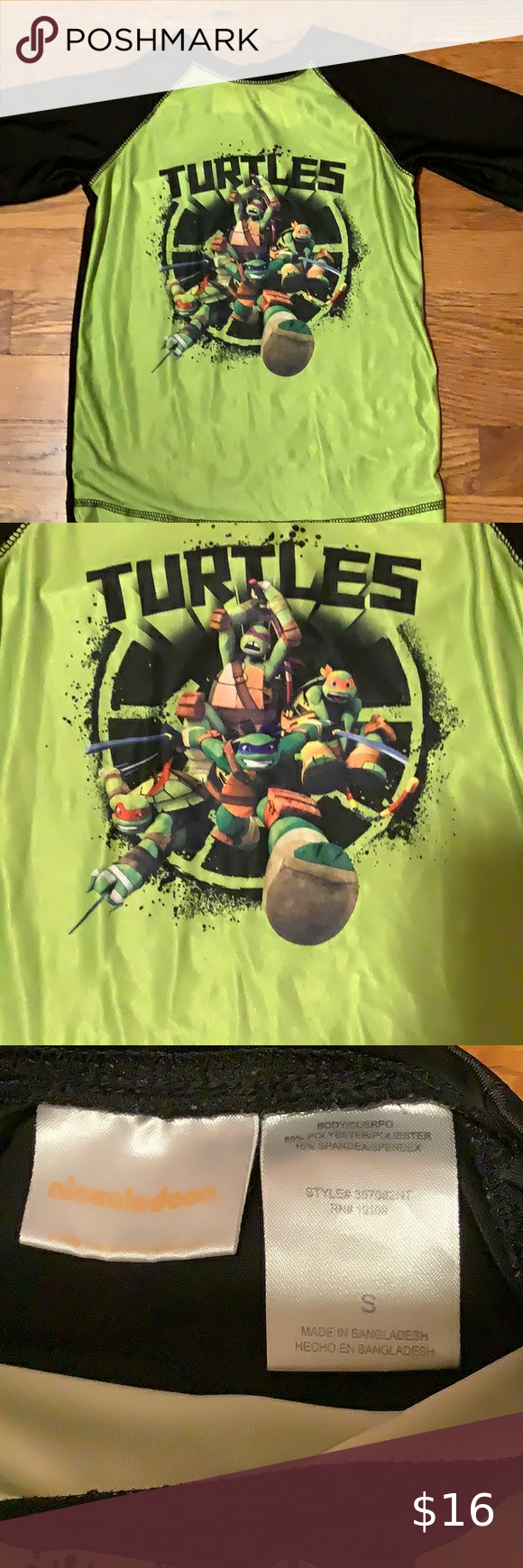 Boys ninja turtle shirt sleeve