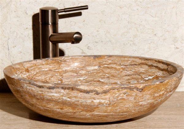 Photo of 18″ Travertine Stone Vessel Sink