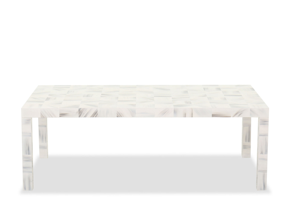 Wood Rectangular 52 Cocktail Table In White Gray Mathis Brothers Furniture Contemporary Decor Living Room Youth Entertainment Center