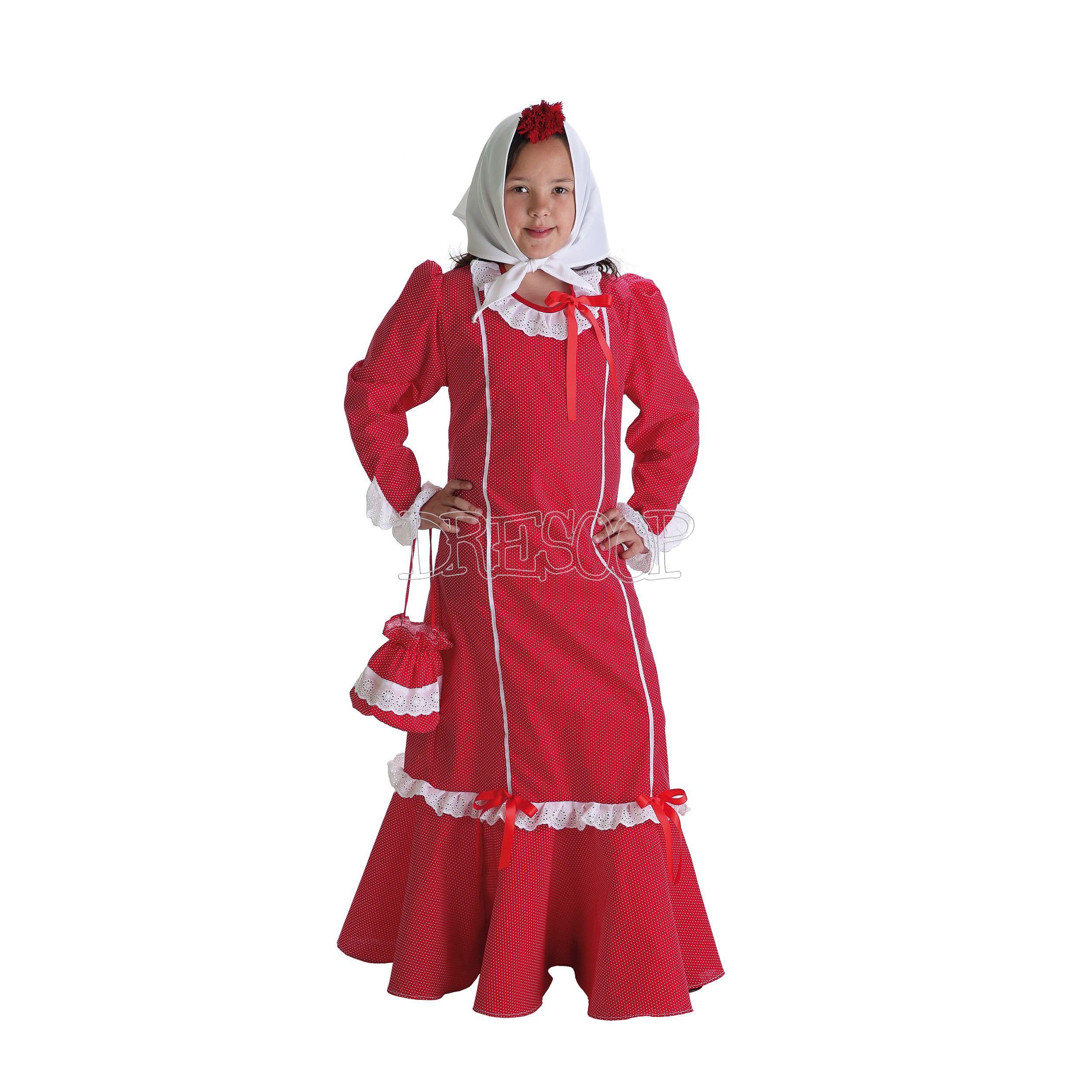 Disfraz Chulapa Con Bolso Para Niña Disfraz Chulapa Chulapa Moda