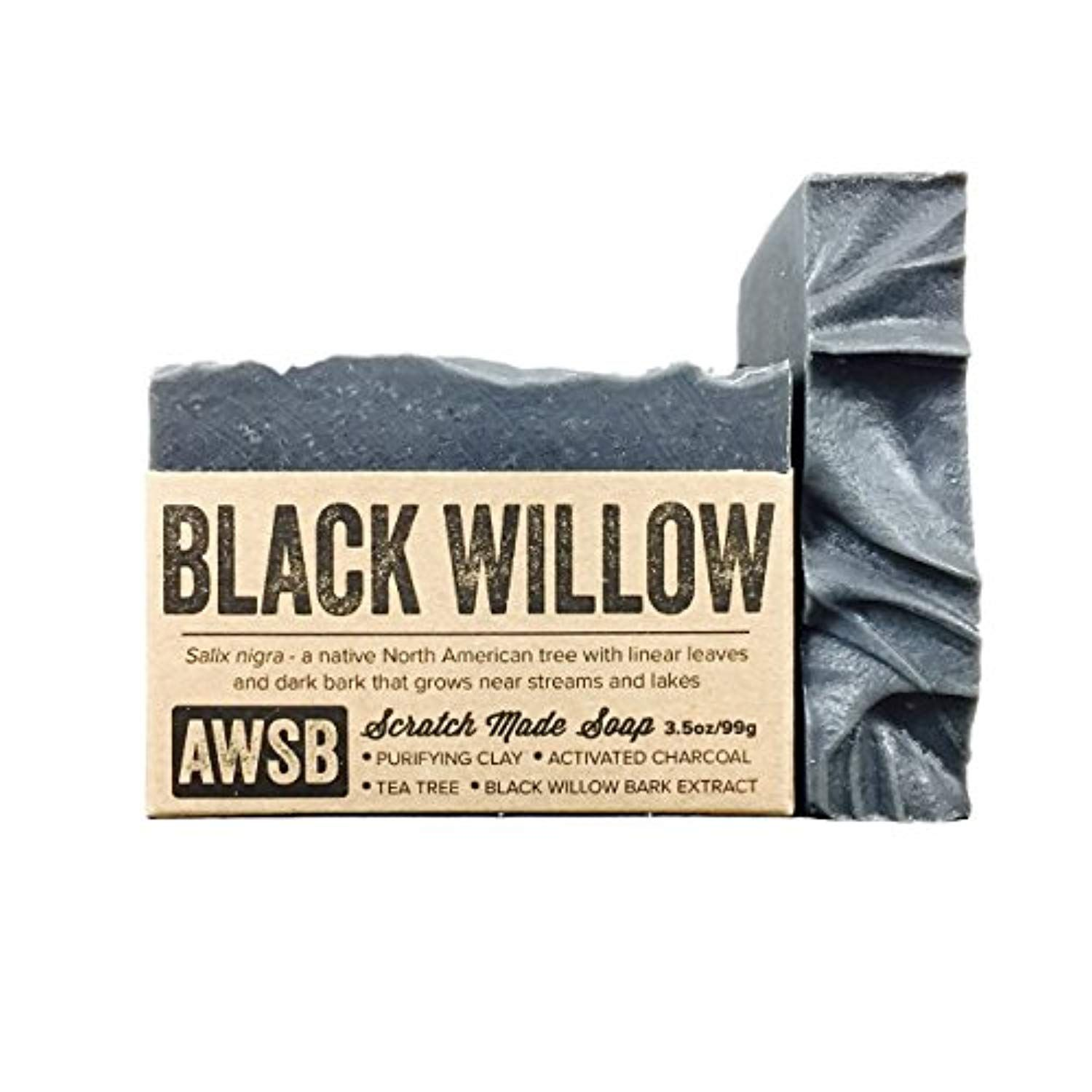 Black Willow Bar Soap for Acne with Activated Charcoal