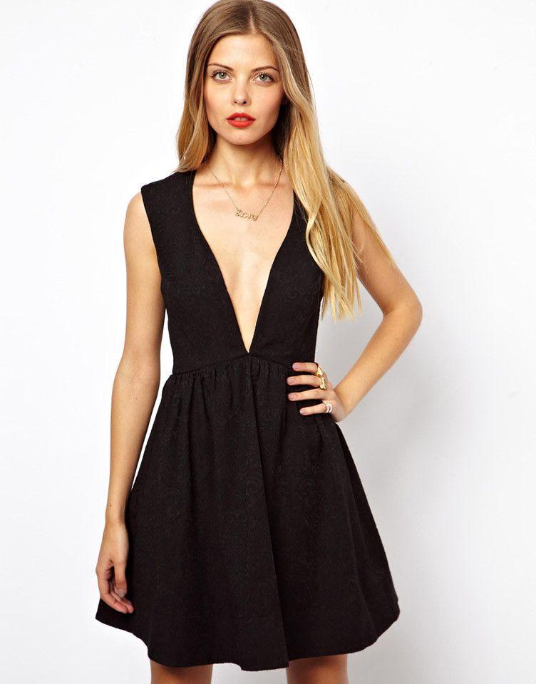 Vestidos de fiesta cortos negro