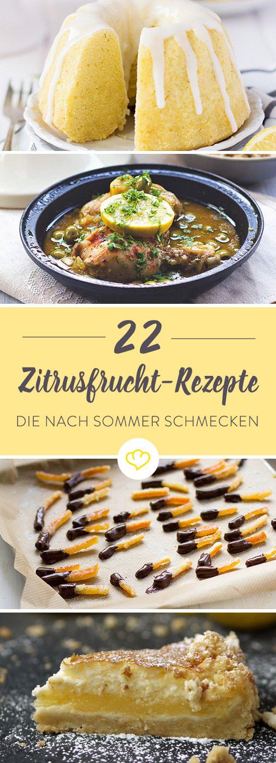 Wenn sich 22 Rezepte mit Zitrusfrüchten auf einer Liste versammeln, dann heißt das 22 Mal eine Extraportion Sommerfeeling. Drinks, Eis, Kuchen, Herzhaftes – in den Bloggerküchen wurde mal wieder eine Leckerei nach der anderen gezaubert.