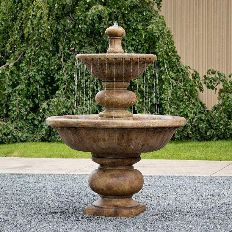 Siena Cascade 67 H Relic Lava 2 Tier Outdoor Spill Fountain 74x00 Lamps Plus In 2020 Fountains Outdoor Diy Garden Fountains Decorative Water Fountain