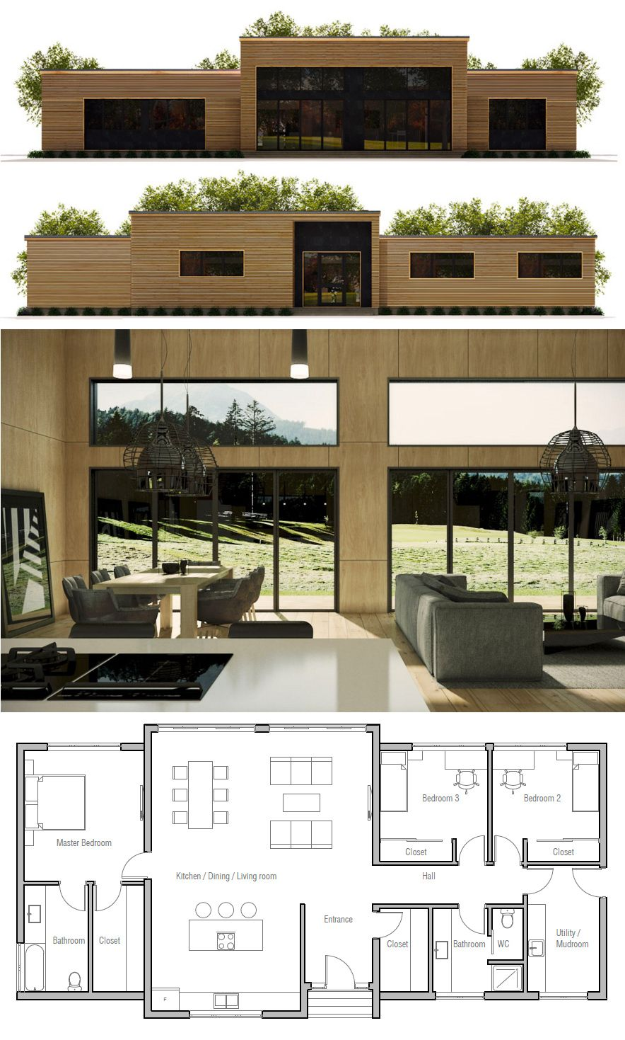 Master bedroom interior design plan  House Plan  Architektur  Pinterest  House Architecture and