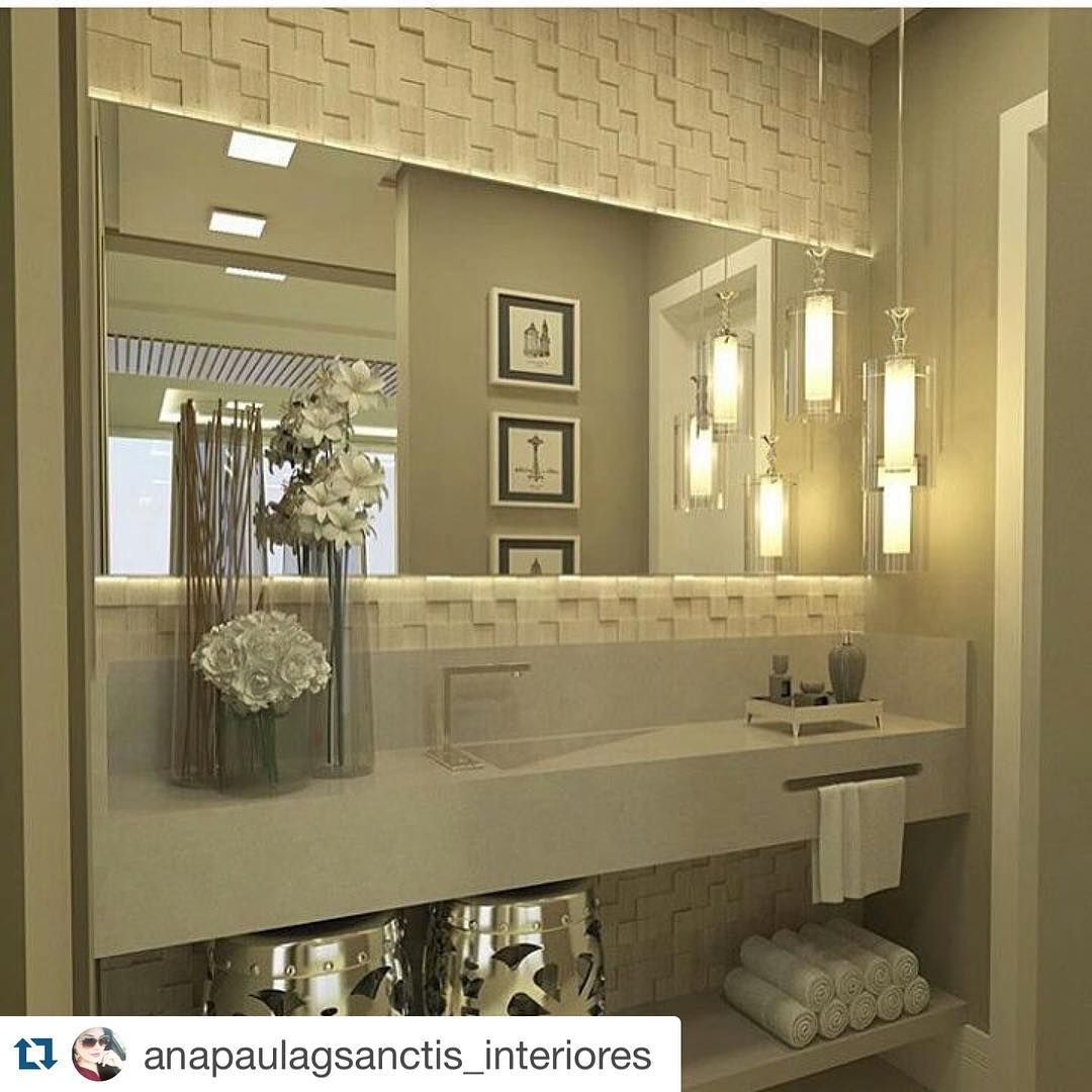 """""""#Repost @anapaulagsanctis_interiores with @repostapp. ・・・ Inspiração para um lindo banheiro. Por Daniel Kroth. Boa Noite!  #Inspiração #decoração…"""""""