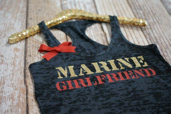 Marine Girlfriend Wifey Tank Top Shirt. by strongconfidentYOU