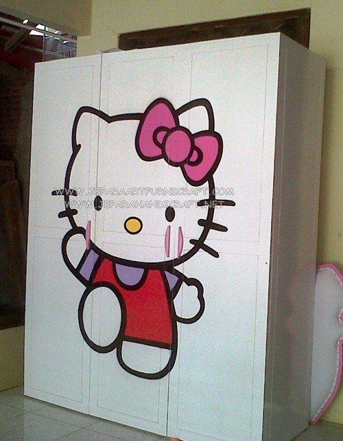 Lemari Baju Hello Kitty 3 Pintu