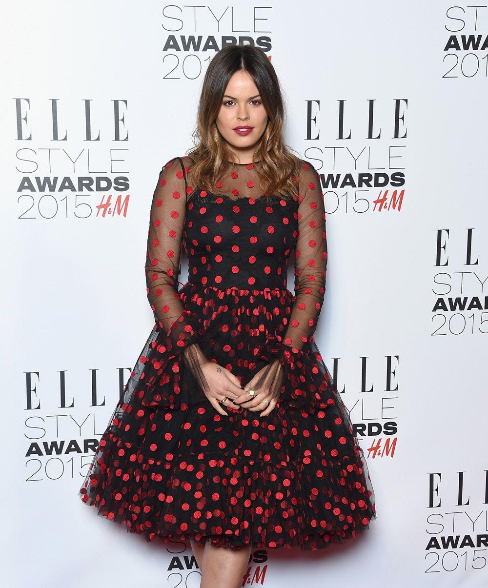Atlanta De Cadenet wearing Dolce&Gabbana to attend the Elle Style Awards 2015 in London on February 24, 2015.