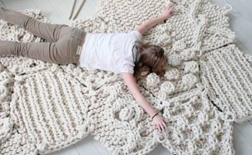 Knitting and Crochet for Home Decor, Handicrafts Trend in Modern Interior Design
