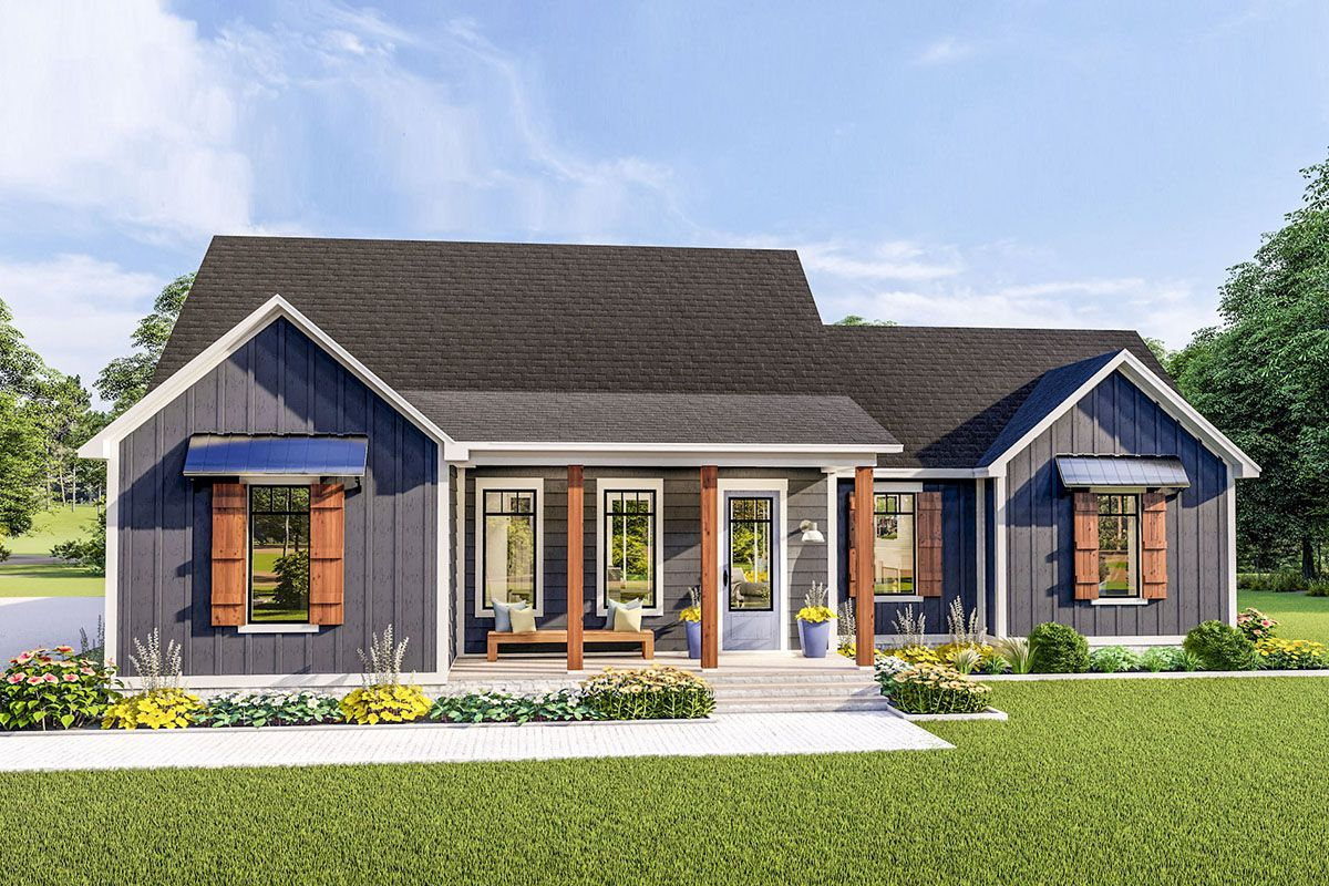 Plan 62155v Exquisite 3 Bed House Plan With Split Bedrooms Country Style House Plans Farmhouse Floor Plans House Plans Farmhouse