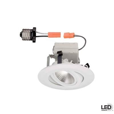 commercial electric 4 in white recessed gimbal led trim cer4742wh