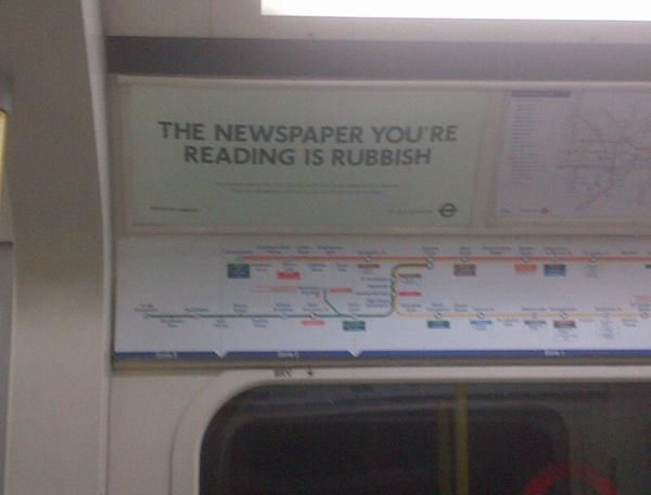 """The Newspaper You're Reading is Rubbish"""