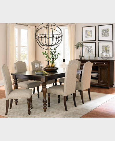 Kelso 7 Pc Dining Set Dining Table And 6 Side Chairs Dining Room Sets Furniture Macy S Side Chairs Dining Dining Furniture Makeover Dining Furniture