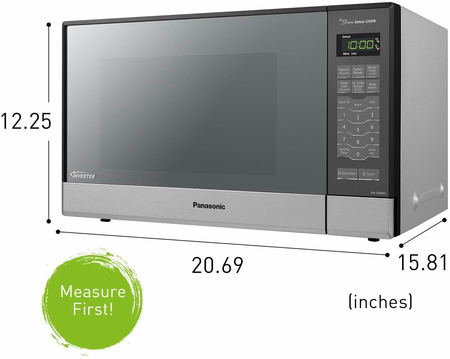 Panasonic Microwave Oven Nn Sn686s Stainless Steel Countertop