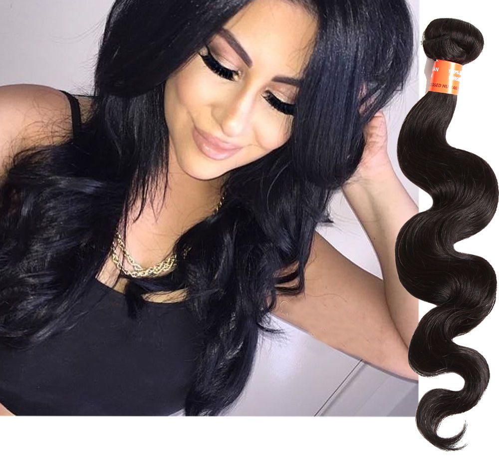 Real human hair extensions 10 30 body wave unprocessed black explore real human hair extensions ebay and more pmusecretfo Images