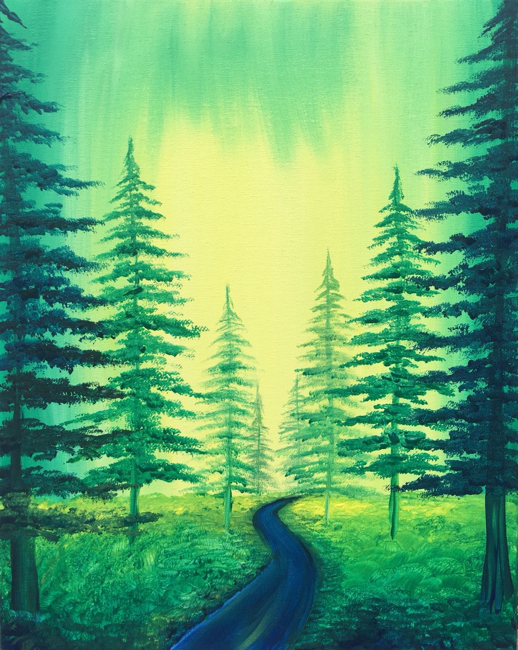 Emerald Forest Painting Nursery Paintings Lake Painting