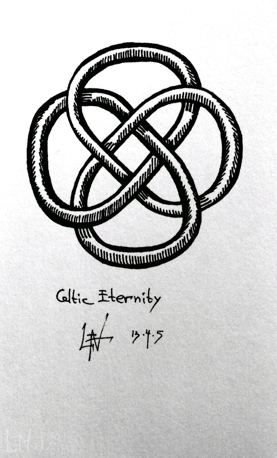 Celtic eternity knot representing the ups and downs of life and celtic eternity knot representing the ups and downs of life and its unbroken biocorpaavc Choice Image