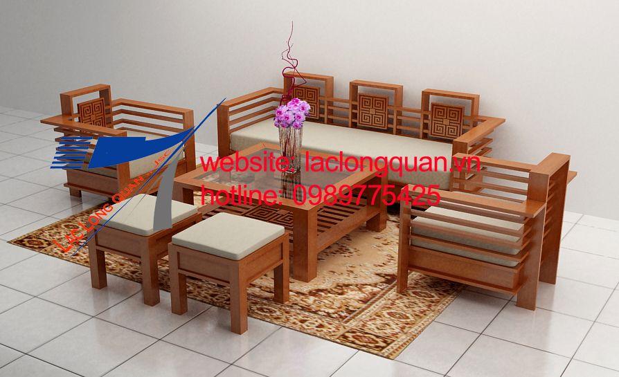 sofa gỗ sồi 001  http://laclongquan.vn/noi-that/san-pham/sofa-go-hien-dai.htm