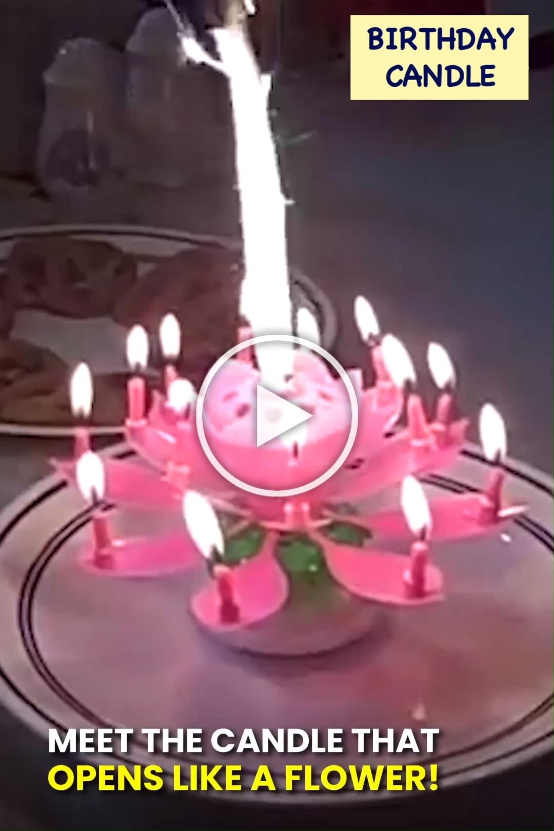 Take Your Birthday Parties To The Next Level With This Blooming Musical Candle This Amazing Lotus Flower Candl Birthday Candles Candles Birthday Songs Video