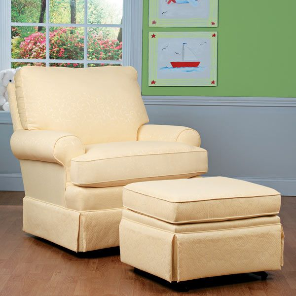 Quite Possibly The Most Comfortable Nursery Swivel Glider Imaginable Pillow Back Is Overstuffed With