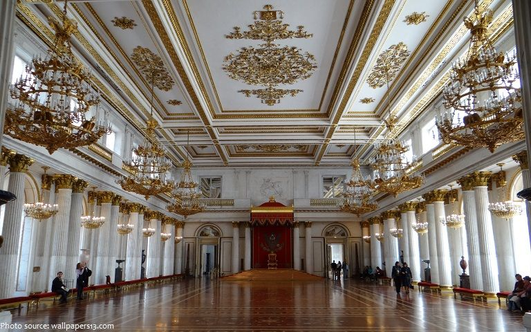 St George S Hall Also Referred To As The Great Throne Room Is One Of The Largest State Rooms In The Winter Palace The Ha Winter Palace Throne Room Hermitage