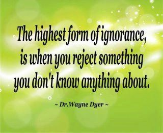 Then I know a lot of ignorant people.