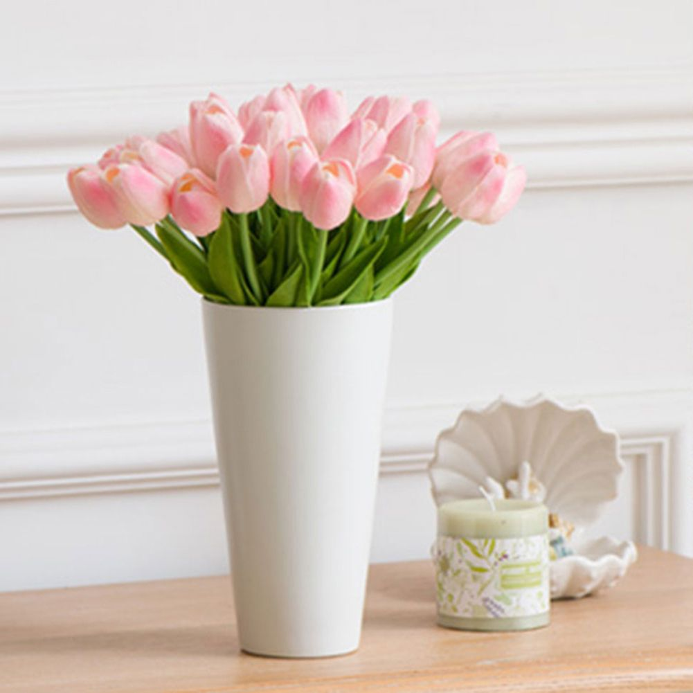 1 Stuk Tulp PU Fake Kunstzijde Tulpen Boeketten Party Kunstbloemen Voor Home Wedding Decoratieve Bloemen F17