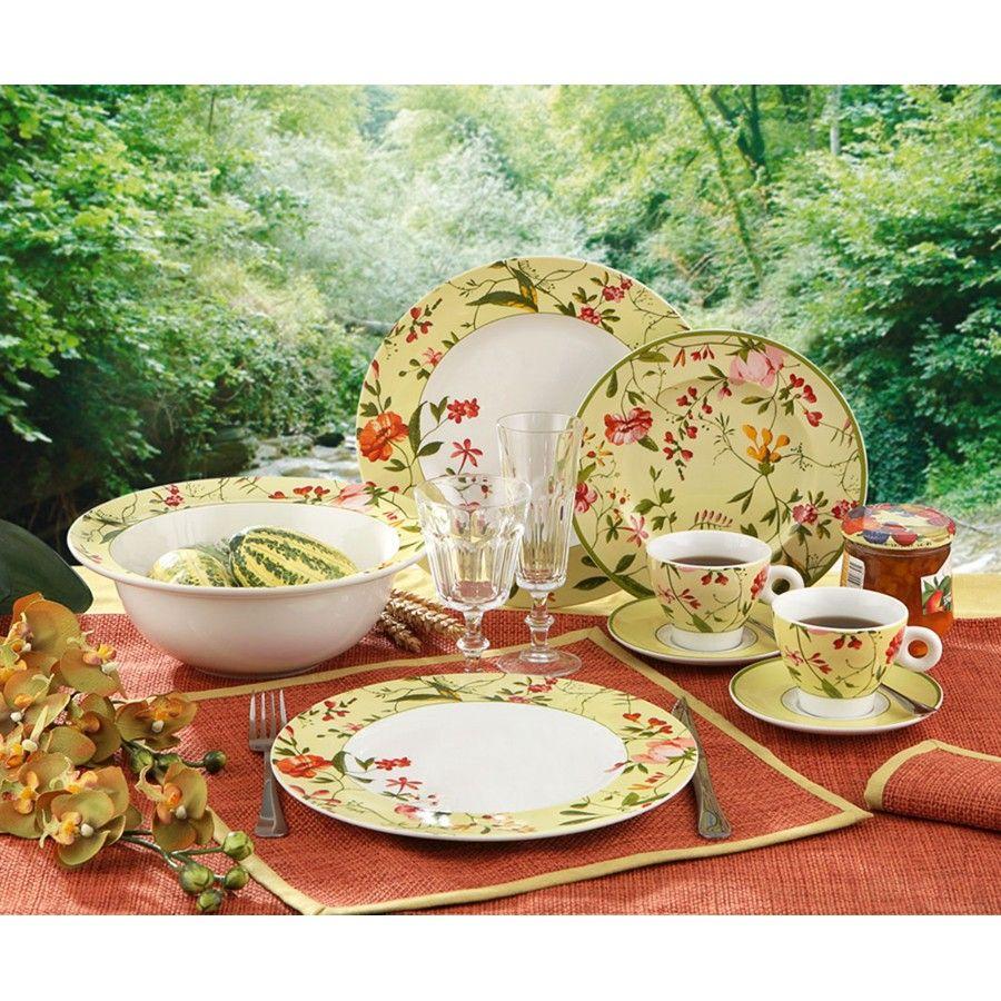 Vajilla de porcelana luminarc 30 pzas garden spirit for Vajillas porcelana clasicas