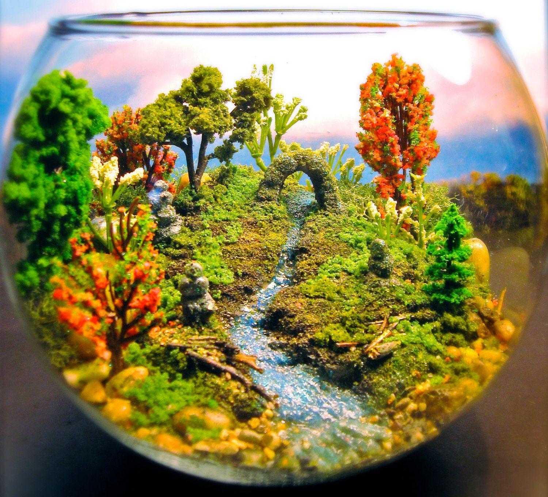 tony larson creates detailed terrarium worlds