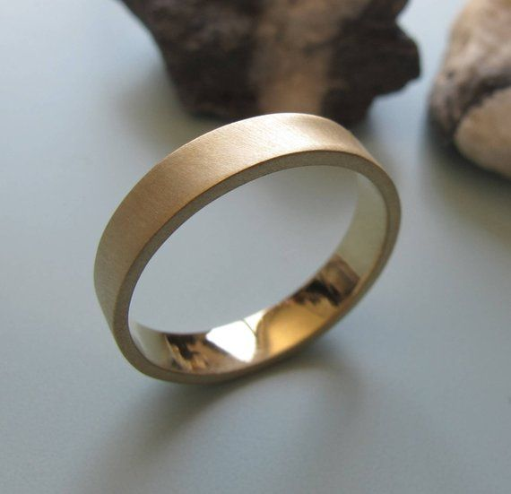Men S Jewellery Delicate Rings Mens Wedding Ring 4mm Brushed