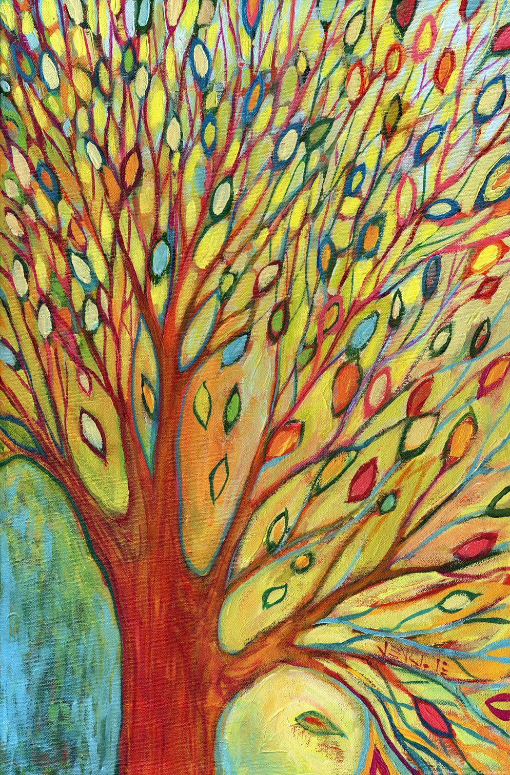Tree Colors\' Painting Print on Wrapped Canvas | Painting prints ...