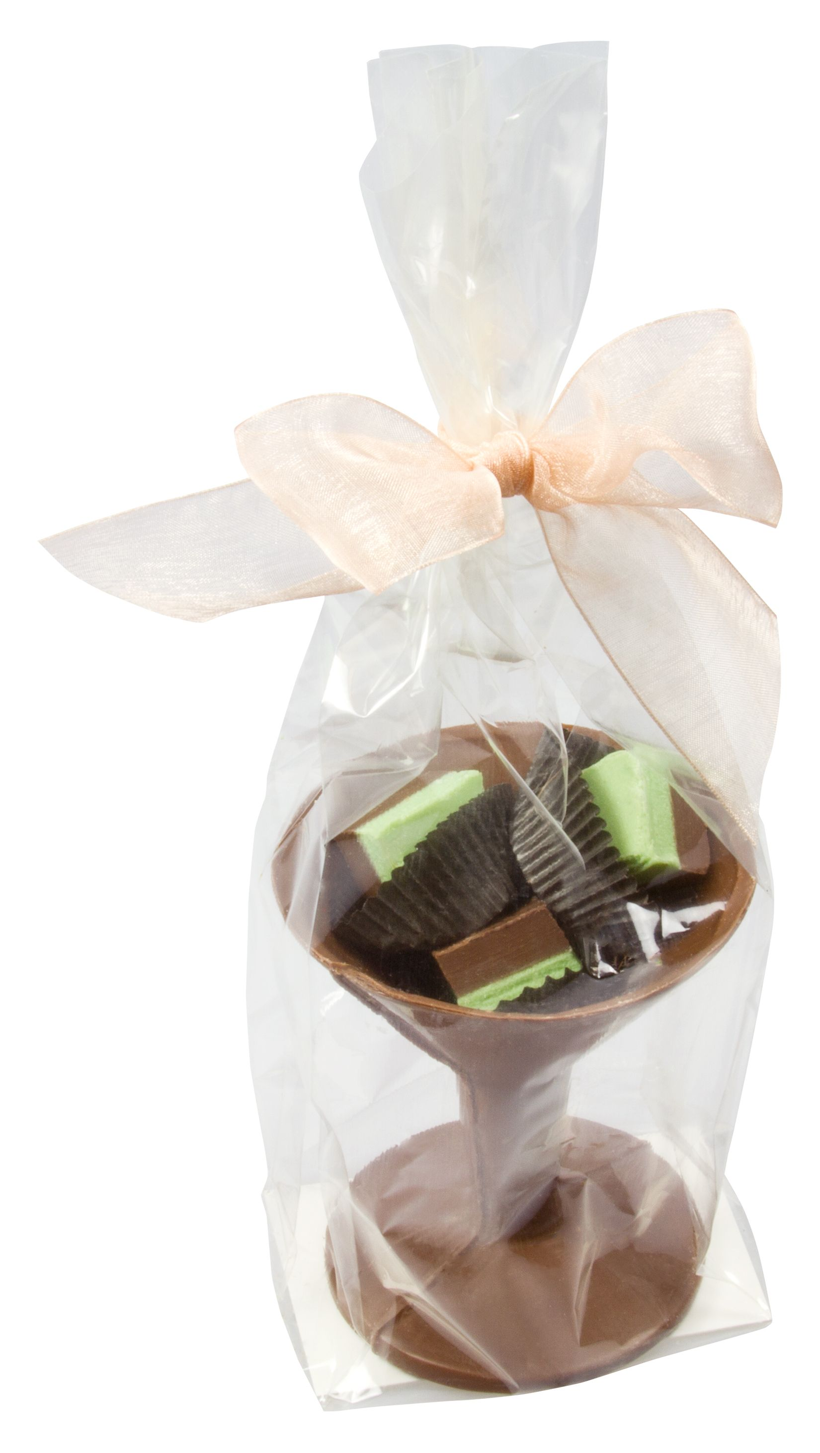Chocolate Martini Glass with Mint Silk Duets™ Wrapped. Available in ...