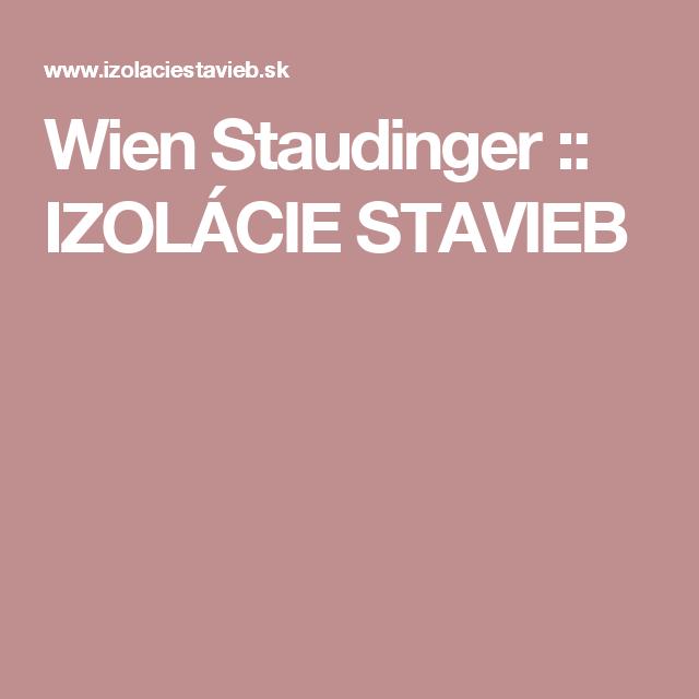 Wien Staudinger   :: IZOLÁCIE STAVIEB