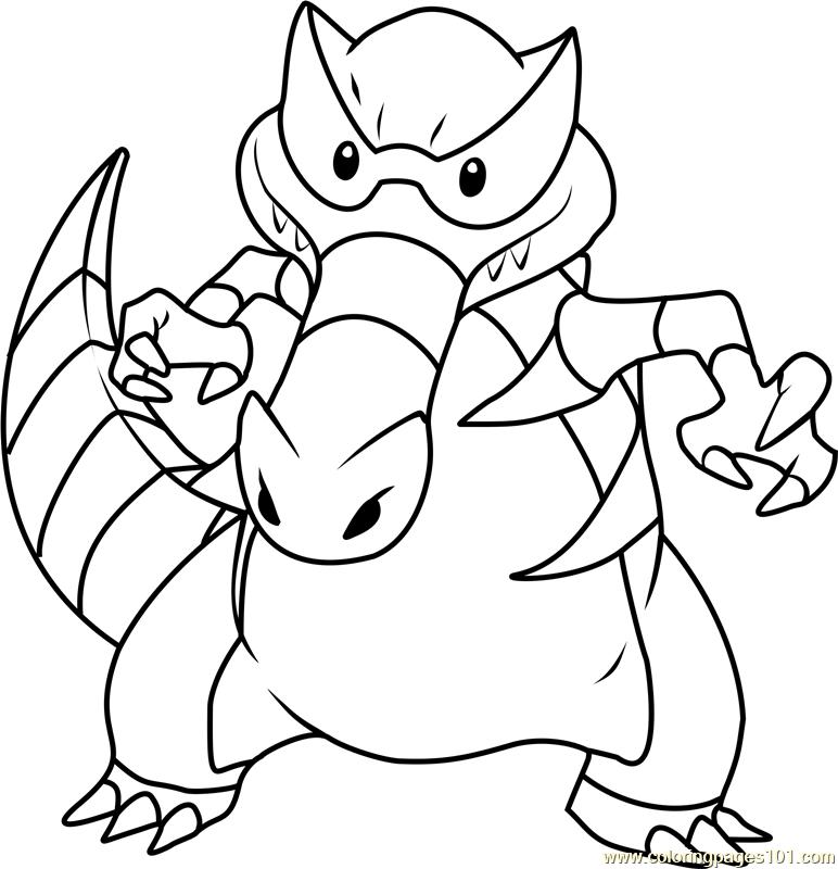 Krookodile Pokemon Coloring Page Pokemon Coloring Pokemon Coloring Pages Coloring Pages
