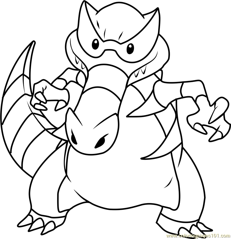 Krookodile Pokemon Coloring Page