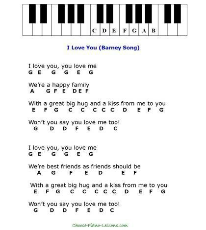 I changed for you me lyrics barney song