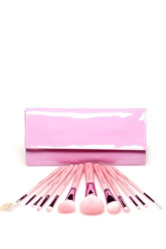 Details about Crown Brush 12 Piece Professional Brush Set - Pink
