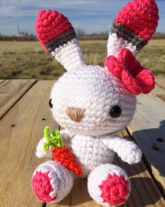 Adorable amigurumi Easter bunny!   Springtime Crochet Bunny by HooksAndHappines on Etsy