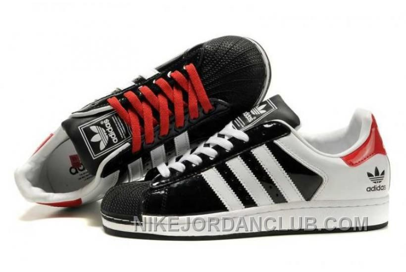 black and red adidas superstar 2