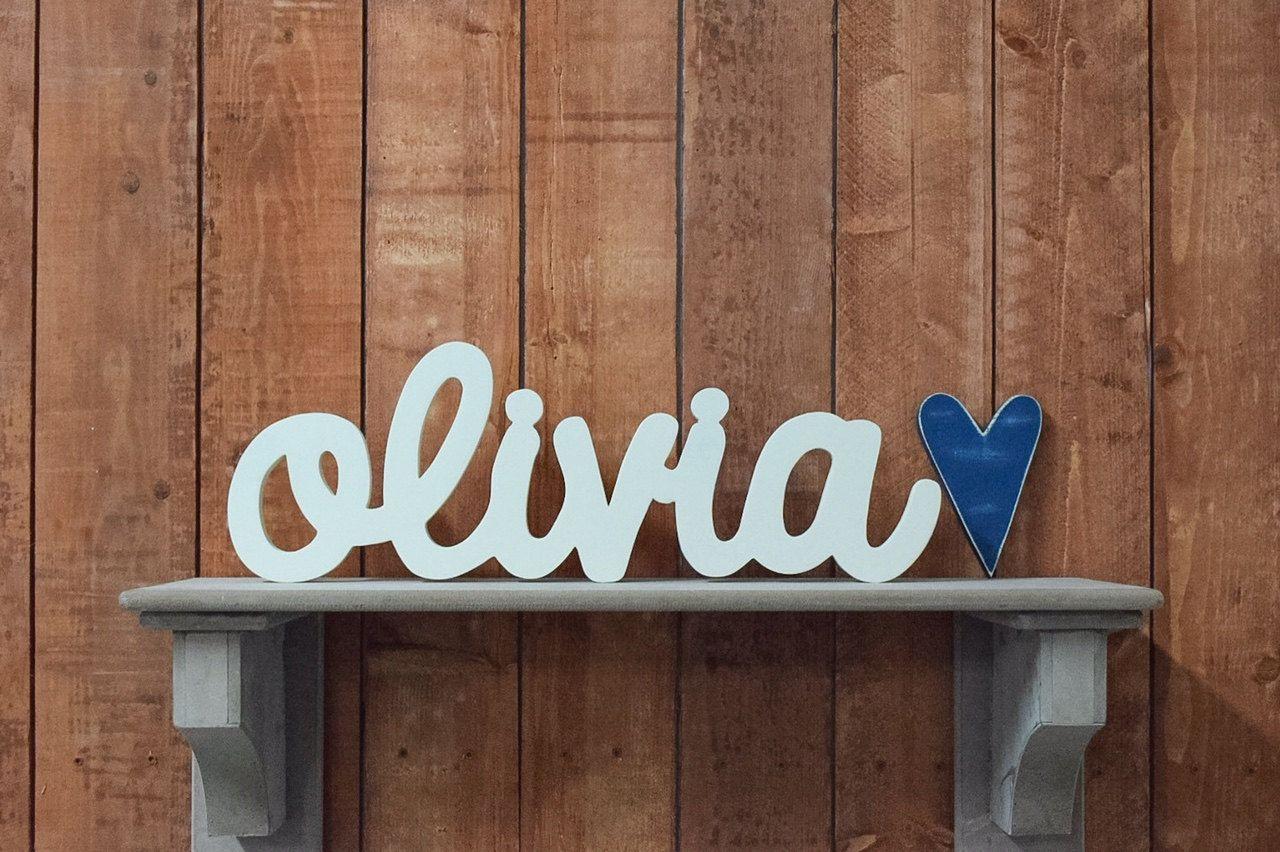 Olivia Custom Wooden Name Sign Nursery Baby Name