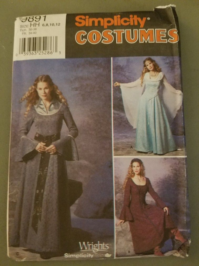 PATTERN for Steampunk costume McCalls 6770 Sz 4-20 Industrial Age Bustle dress