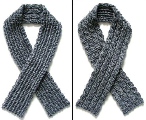 Crochet Scarf Patterns Crochet Pattern Reversible Cable Scarf
