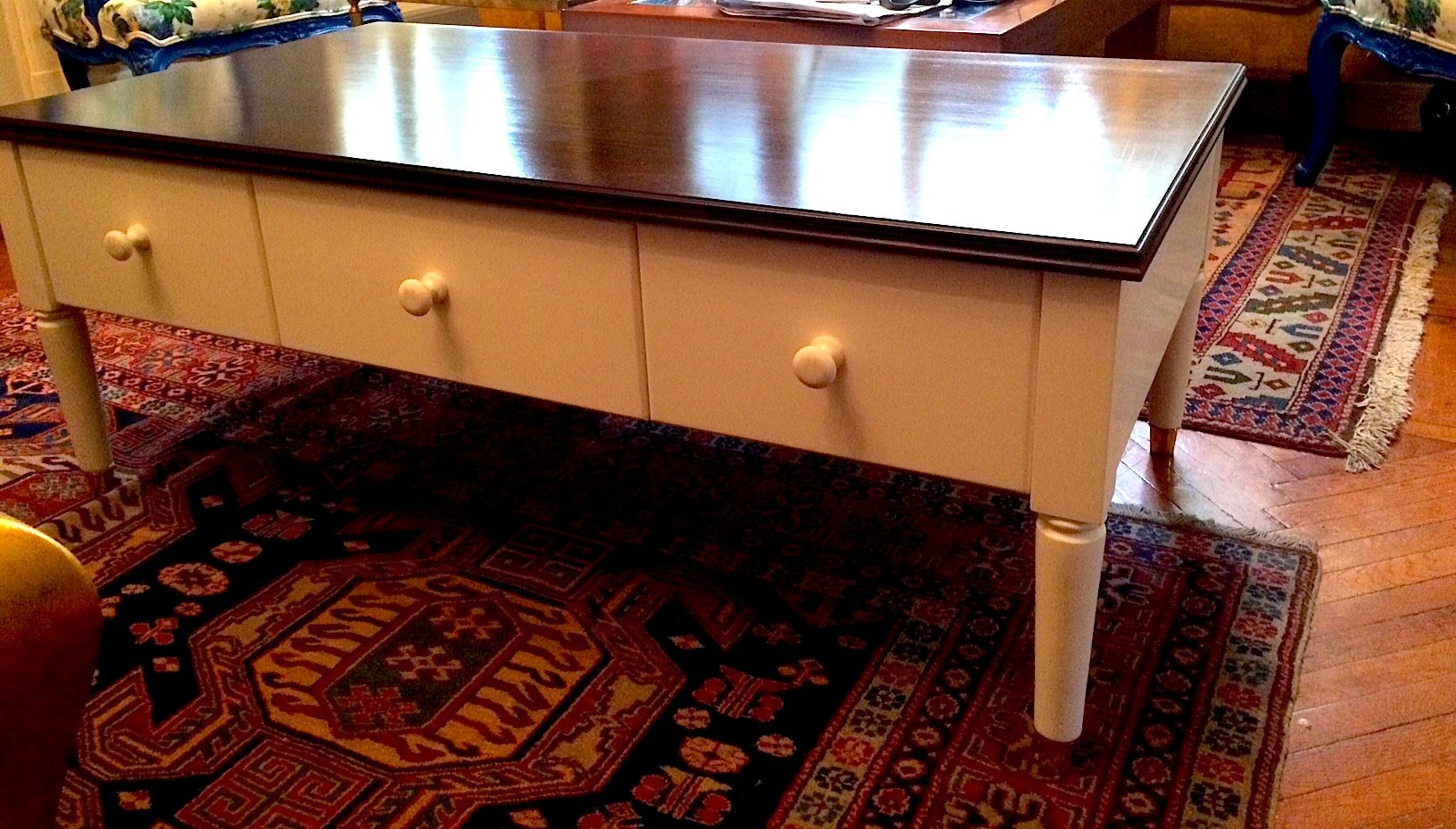 Simple and practical coffee table ..can also be made in a larger size to be used as a tv unit