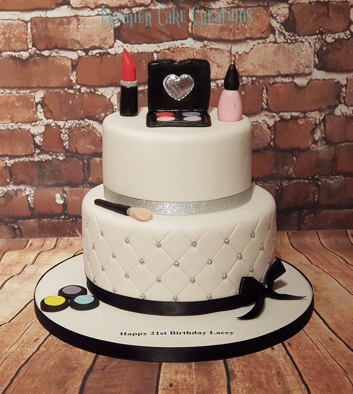 Brilliant 2 Tier Makeup Cake Make Up Cake Cake Tiered Funny Birthday Cards Online Inifofree Goldxyz