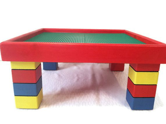 Childrenu0027s Table And Chair   Lego Table   Kids Table   Playroom Furniture    Kids Chair   Primary Colors   Nontoxic Paint | Block Table, Small Tables  And ...